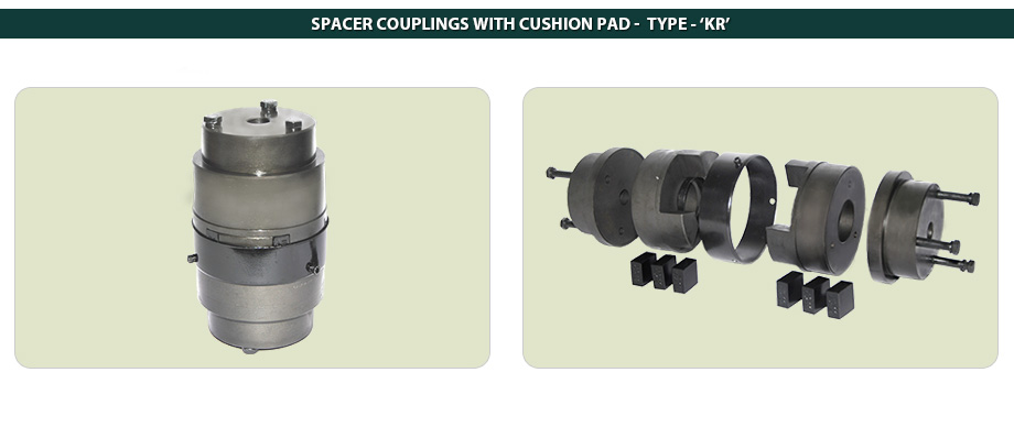 Spacer Couplings With Cushion Pad