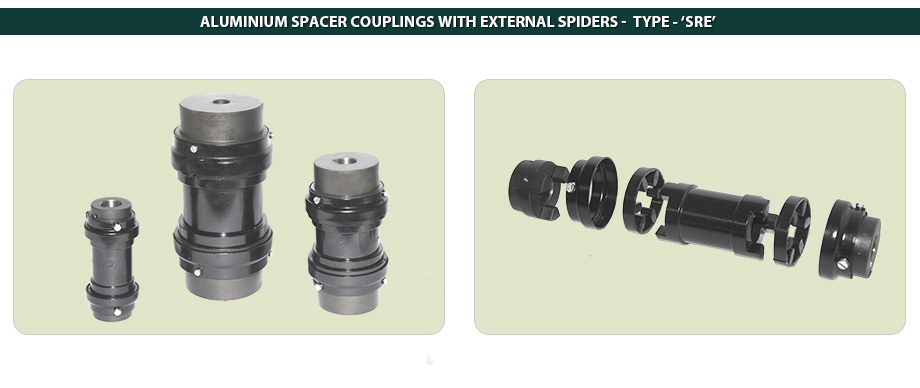 Aluminium Spacer Couplings With External Spider